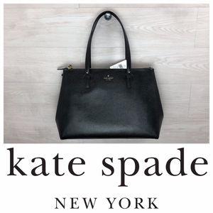 Kate Spade Reena Grand Street Black Leather Tote